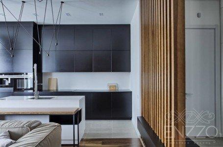 Современная стильная кухня без ручек