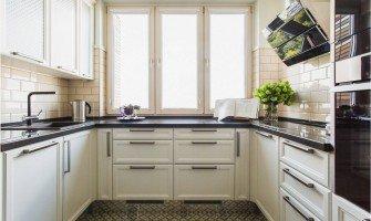 П-образная планировка кухни стильно и практично