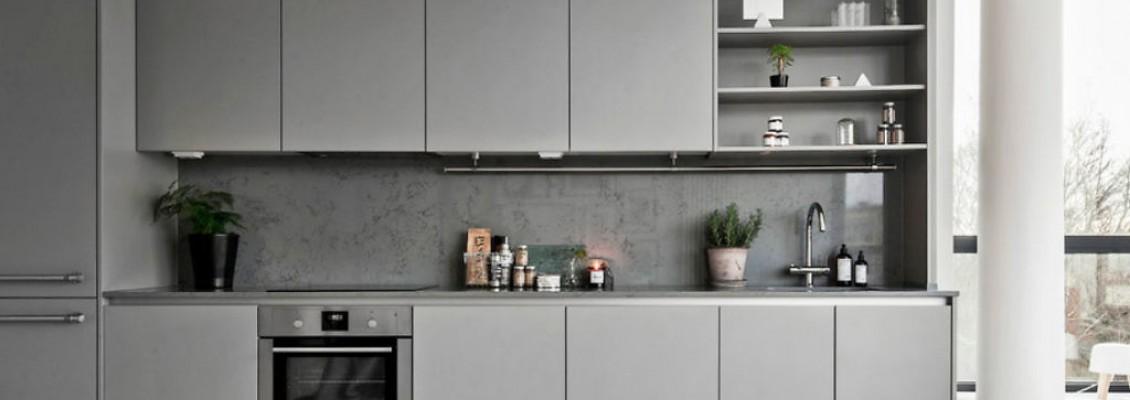 Серые кухни в интерьере
